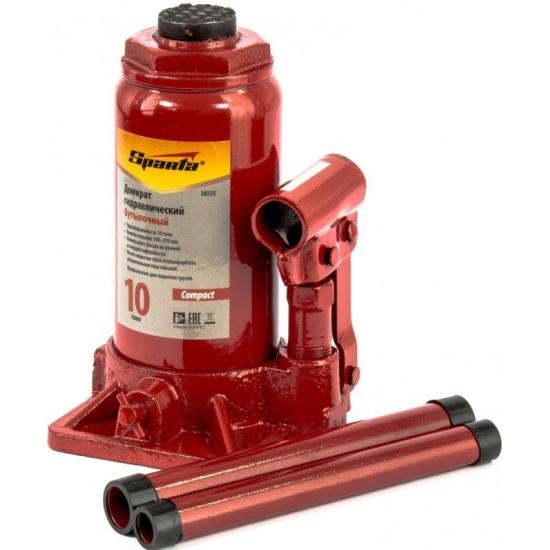 Домкрат гидравлический бутылочный 10 т, h подъема 190-370 мм Compact, SPARTA 50335- купить по выгодной цене в интернет-магазине ОНЛАЙН ТРЕЙД.РУ Дзержинск
