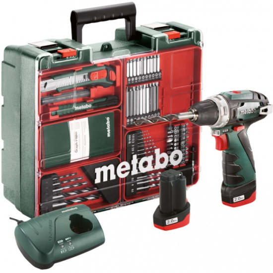 Дрель-шуруповерт аккумуляторная Metabo PowerMaxx BS Basic SET (600080880) — купить в интернет-магазине ОНЛАЙН ТРЕЙД.РУ