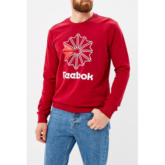 Свитшот REEBOK DM5159 AC FT Big Starcrest мужской, цвет красный, размер  44-46 1d6e4d3f458