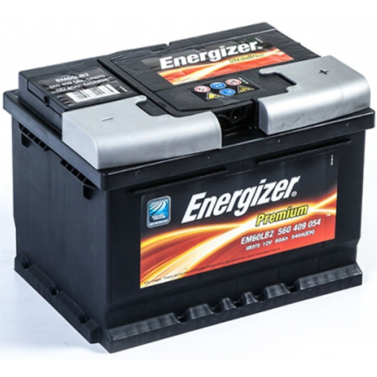 Аккумулятор ENERGIZER Premium EM60-LB2 560 409 054 обратная полярность 60 Ач