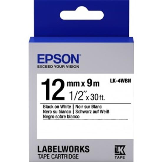 Картридж с лентой EPSON C53S654021 Tape 12мм/9м, бел./черн. LK4WBN — купить в интернет-магазине ОНЛАЙН ТРЕЙД.РУ