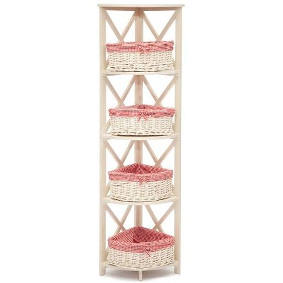 Этажерка угловая Secret De Maison «Angulaire 4» PE-05, белая id9753 - купить по выгодной цене в интернет-магазине ОНЛАЙН ТРЕЙД.РУ Уфа