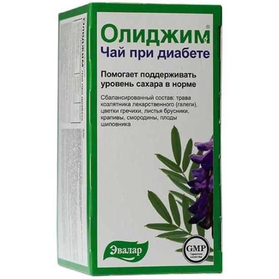 Фиточай ЭВАЛАР БИО Олиджим при диабете 2 г №20 — купить в интернет ...