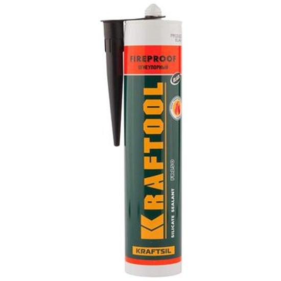 Герметик термостойкий KRAFTOOL KRAFTFLEX FR150 41260-4, силикатный, черный, огнеупорный, 300 мл. — купить в интернет-магазине ОНЛАЙН ТРЕЙД.РУ