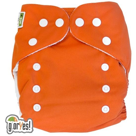 ... Многоразовый подгузник GlorYes! CLASSIC (ГлорЕс Классик) Апельсин 3-15  кг + один ... 051ca6407e8