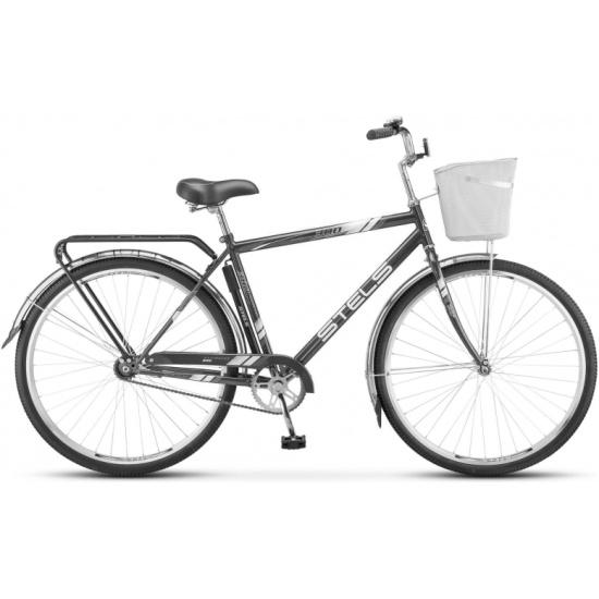 Городской велосипед Stels Navigator 300 Gent 28 (Z010) 2018, серый, рама 20
