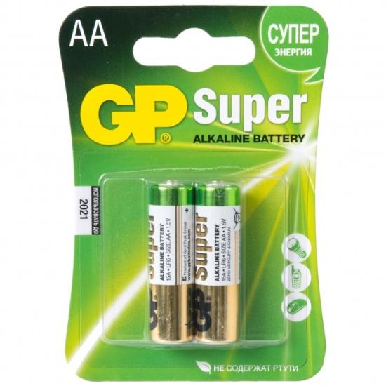 Элемент питания GP Super Alkaline AA бл 2 GP 15A-CR2 - низкая цена, доставка или самовывоз по Краснодару. Элемент питания Джи Пи Super Alkaline AA бл 2 купить в интернет магазине ОНЛАЙН ТРЕЙД.РУ