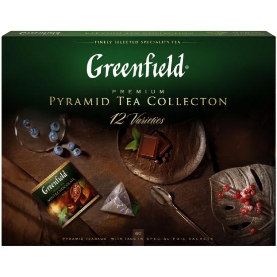 Набор чая GREENFIELD 12 видов, пакетированный, 60 пак/упак, пирамидки — купить в интернет-магазине ОНЛАЙН ТРЕЙД.РУ