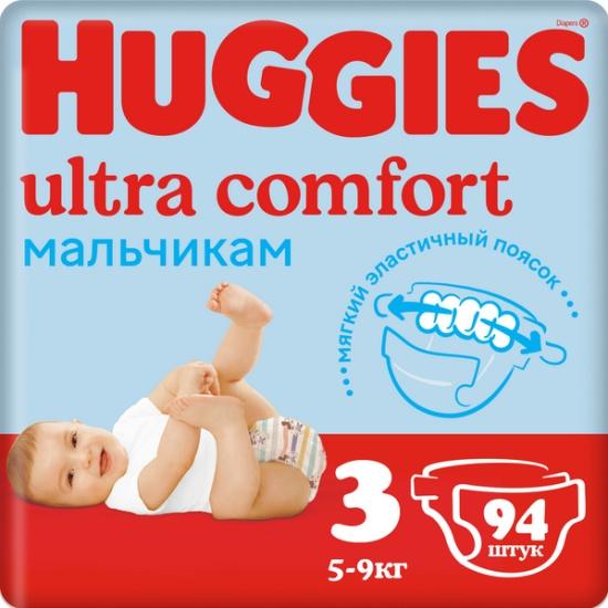 42cc3e6d26e0 Подгузники Huggies (Хаггис) Ultra Comfort для мальчиков 3 (5-9 кг) ...