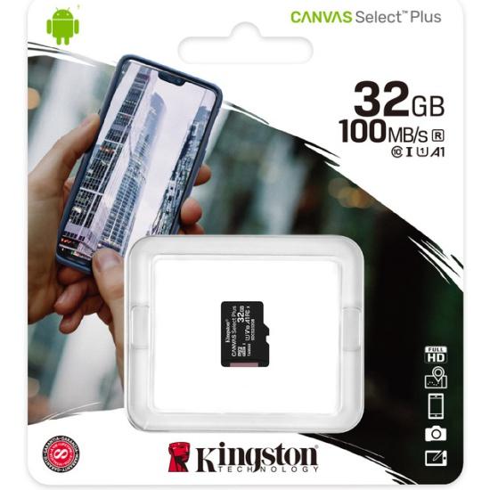 Карта памяти micro SDHC 32Gb Kingston Canvas Select Plus UHS-I U1 A1 (100/10 Mb/s) SDCS2/32GBSP - купить по выгодной цене в интернет-магазине ОНЛАЙН ТРЕЙД.РУ Санкт-Петербург