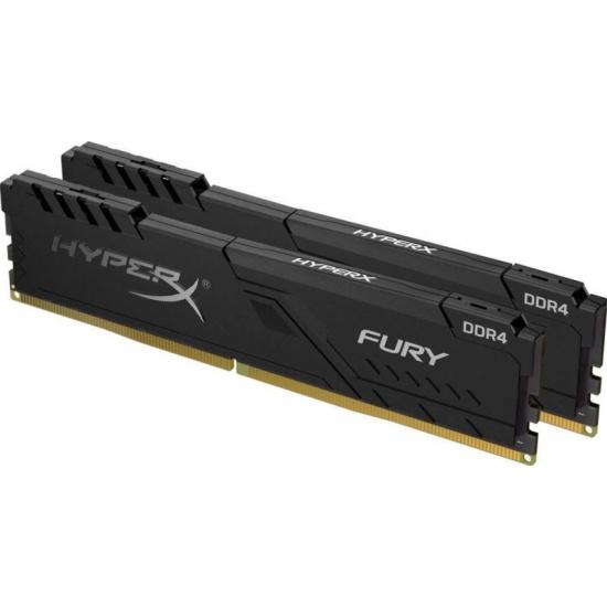 Оперативная память Kingston DDR4 16Gb (2x8Gb) 2400 MHz pc-19200 HyperX FURY Black (HX424C15FB3K2/16) — купить в интернет-магазине ОНЛАЙН ТРЕЙД.РУ