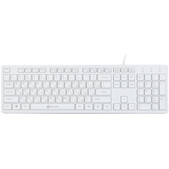 Клавиатура Oklick 500M белый USB slim (1061586) — купить в интернет-магазине ОНЛАЙН ТРЕЙД.РУ