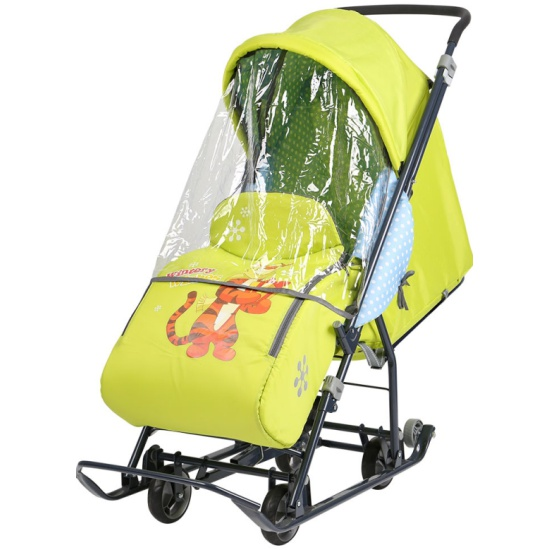 666a93d2da5 Санки-коляска Ника Disney Baby 1 (Тигруля лимонный) - купить в интернет  магазине