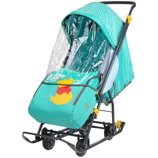 83f679f1faa Санки-коляска Ника Disney Baby 1 (Винни изумрудный) - купить в интернет  магазине