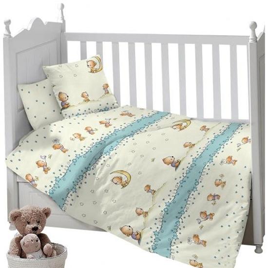 4fa8a46ec341 Комплект постельного белья Sweet Baby Gioco Cielo, сатин, 3 предмета,  бежевый с рисунком