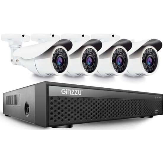 Комплект видеонаблюдения GINZZU HK-842D,8ch, 5MP, HDMI, 4улич кам 5.0Mp, IR20м — купить в интернет-магазине ОНЛАЙН ТРЕЙД.РУ