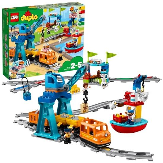 Конструктор LEGO DUPLO Town 10875 Грузовой поезд 10875 LEGO - низкая цена, доставка или самовывоз по Челябинску. Конструктор Лего DUPLO Town 10875 Грузовой поезд купить в интернет магазине ОНЛАЙН ТРЕЙД.РУ