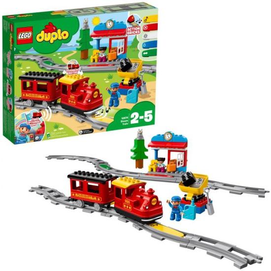 Конструктор LEGO® DUPLO® Town 10874 Поезд на паровой тяге 10874 LEGO - купить по выгодной цене в интернет-магазине ОНЛАЙН ТРЕЙД.РУ Санкт-Петербург