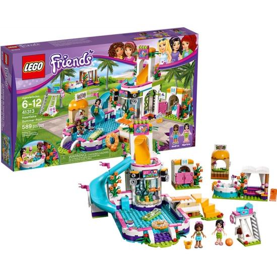Lego friends конструктор летний бассейн 41313