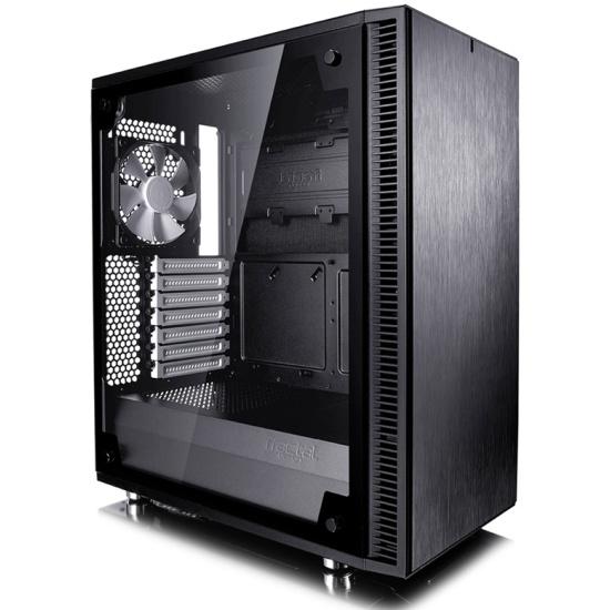 Корпус Fractal Design Define C TG black ATX FD-CA-DEF-C-BK-TG Window - купить в интернет-магазине ОНЛАЙН ТРЕЙД.РУ