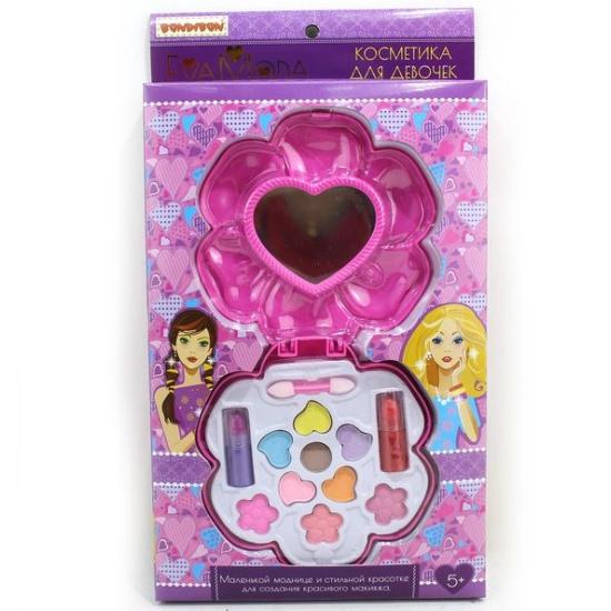 b03cab0a24fe Набор детской декоративной косметики BONDIBON ВВ1759 EvaModa: косметичка- цветок с зеркальцем, тени-