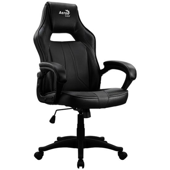 Кресло геймерское Aerocool AC40C AIR All Black , черное, до 125 кг, ШxДxВ : 64x67x111-119см, газлиф 0665304 - купить по выгодной цене в интернет-магазине ОНЛАЙН ТРЕЙД.РУ Пенза