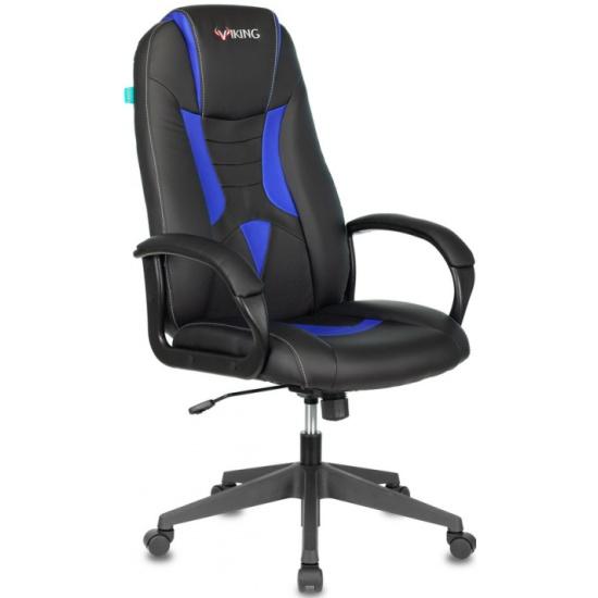 Кресло геймерское Бюрократ VIKING-8N/BL-BLUE черный/синий искусственная кожа — купить в интернет-магазине ОНЛАЙН ТРЕЙД.РУ