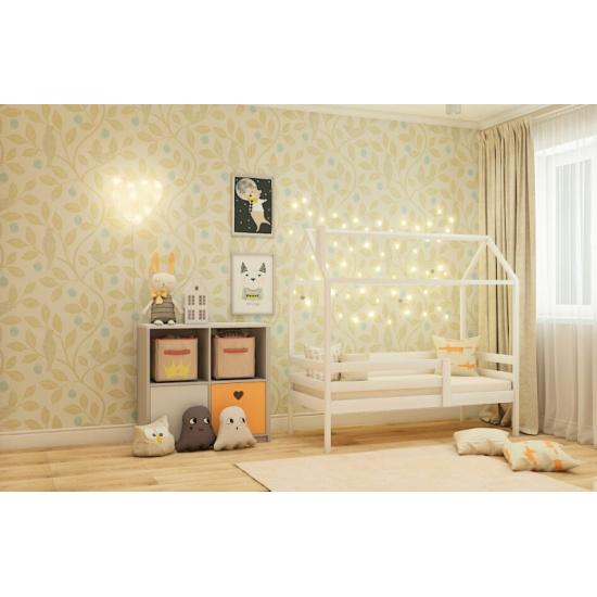 Кровать-домик с 1 ограничителем RooRoom белый кд-3 — купить в интернет-магазине ОНЛАЙН ТРЕЙД.РУ