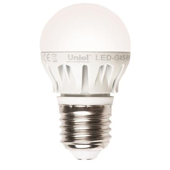 Лампочка Uniel LED-G45-6W/NW/E14/CL PLS02WH