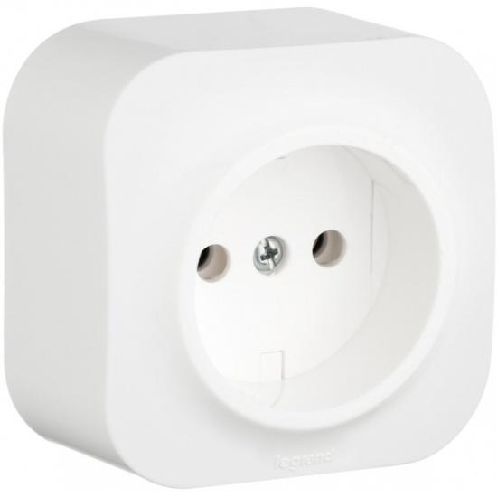 1eef07411eaa9 Розетка электрическая Legrand Quteo 782210, 16А, белая - купить в интернет  магазине с доставкой