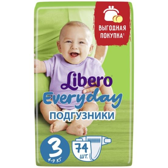 d58e620a8b59 Подгузники Libero Every Day (Либеро Эври Дэй) 3 Midi (4-9 кг), 74 шт ...