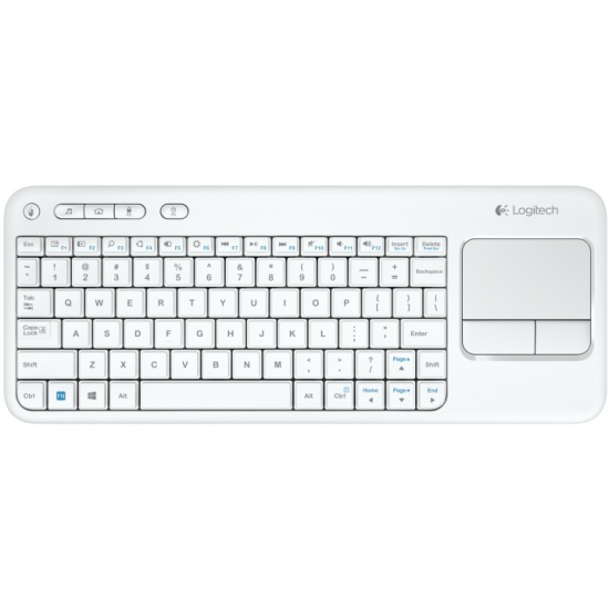 ���������� Logitech Wireless Touch Keyboard K400 White (920-005931)