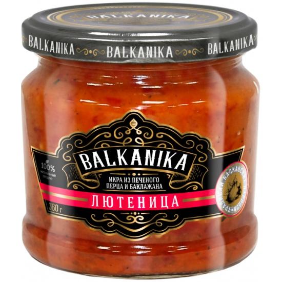 Лютеница BALKANIKA Икра из печеных перцев и баклажанов, 360 гр. — купить в интернет-магазине ОНЛАЙН ТРЕЙД.РУ