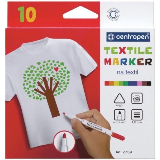 Маркеры для ткани 10 ЦВЕТОВ CENTROPEN