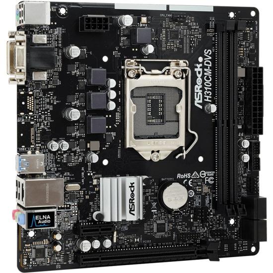 Материнская плата ASRock H310CM-DVS (LGA1151v2, microATX) — купить в интернет-магазине ОНЛАЙН ТРЕЙД.РУ