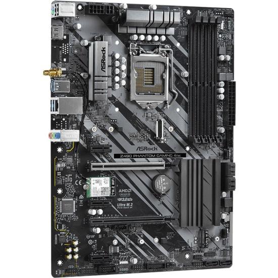 Материнская плата ASRock Z490 PHANTOM GAMING 4/AC (LGA1200, ATX)- купить по выгодной цене в интернет-магазине ОНЛАЙН ТРЕЙД.РУ Санкт-Петербург