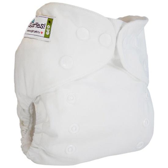 Многоразовый подгузник GlorYes! CLASSIC (ГлорЕс Классик) Белый 3-15 кг +  один ... 184ec492858