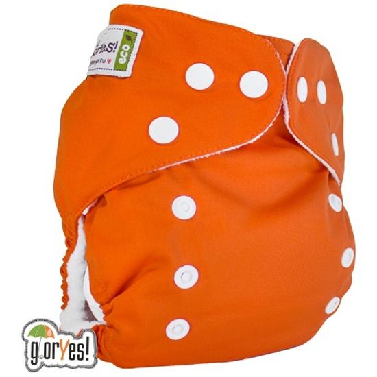 Многоразовый подгузник GlorYes! CLASSIC (ГлорЕс Классик) Апельсин 3-15 кг +  один ... 37e04d32b0b