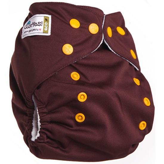 Многоразовый подгузник GlorYes! CLASSIC (ГлорЕс Классик) Шоколадный 3-15 кг  + один ... 03189383af0