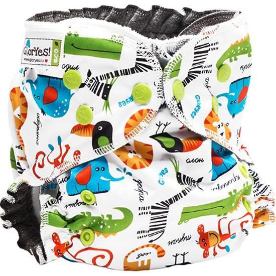 Многоразовый подгузник GlorYes! OPTIMA Сафари + 2 вкладыша Изображение 1 -  купить в интернет магазине ... 25b43264d82