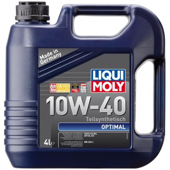 Моторное масло LIQUI MOLY Optimal 10W-40 4 л — купить в интернет-магазине ОНЛАЙН ТРЕЙД.РУ