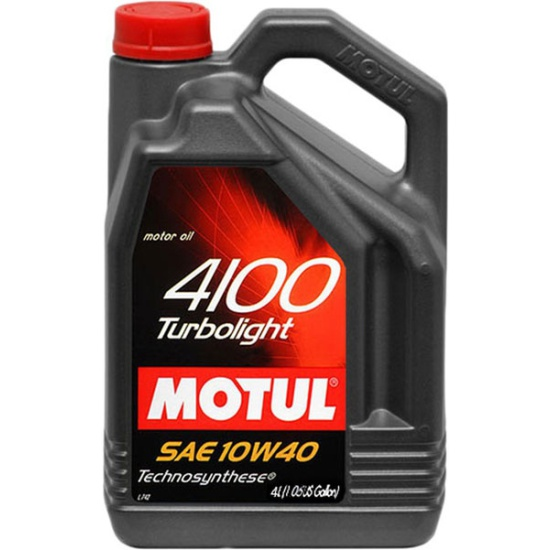 Моторное масло Motul 4100 Turbolight 10w40 4л - фото 2