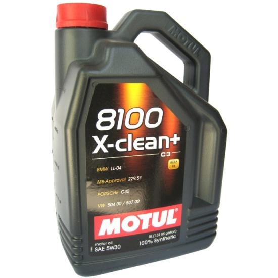 Моторное масло MOTUL 8100 X-clean+ 5W-30 5 л