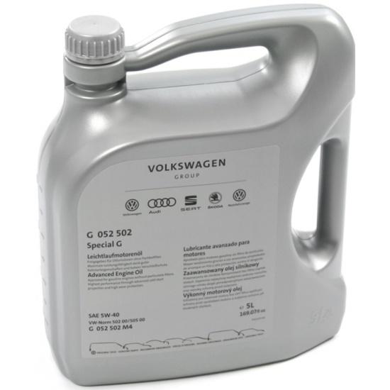 Моторное масло VOLKSWAGEN Special G 5W40 5 л G052502M4 - низкая цена, доставка или самовывоз по Твери. Моторное масло VOLKSWAGEN Special G 5W40 5 л купить в интернет магазине ОНЛАЙН ТРЕЙД.РУ.