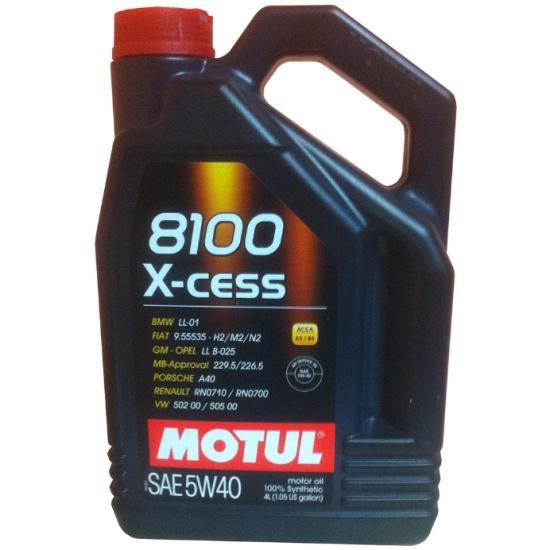 Моторное масло MOTUL 8100 X-cess 5W-40 4 л — купить в интернет-магазине ОНЛАЙН ТРЕЙД.РУ