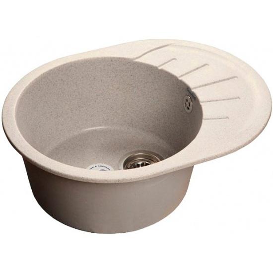 Мойка кухонная GranFest Rondo GF-R580L белый Смеситель Cezares Margot MARGOT-VM-03/24-M для ванны с душем