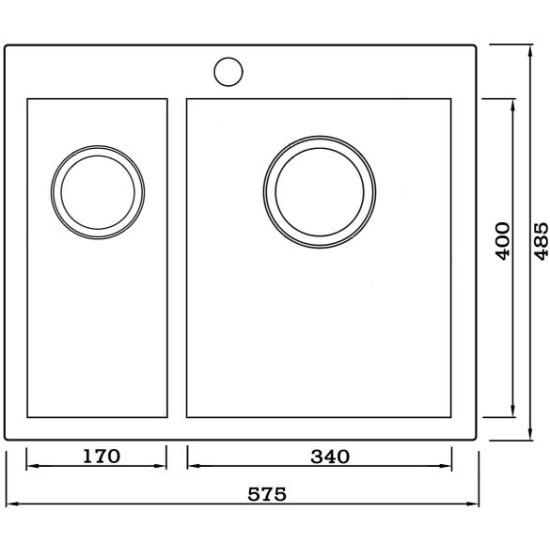 Мойка кухонная Seaman Eco Marino SMV-Z-575DL.A ванная комната деревенский стиль