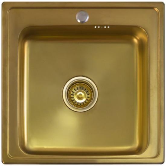 Кухонная мойка Seaman Eco Wien SWT-5050 Antique gold (Micro-satin *10) - купить в интернет-магазине ОНЛАЙН ТРЕЙД.РУ