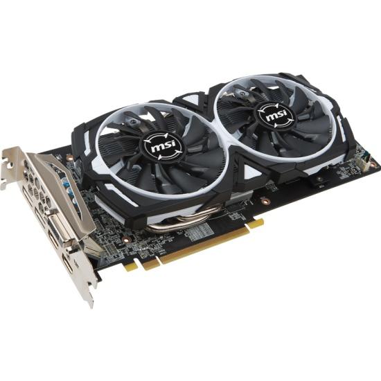 Видеокарта MSI Radeon RX 580 1366Mhz PCI-E 3.0 8192Mb 8000Mhz 256 bit DVI HDMI DisplayPort (RX 580 ARMOR 8G OC) — купить в интернет-магазине ОНЛАЙН ТРЕЙД.РУ