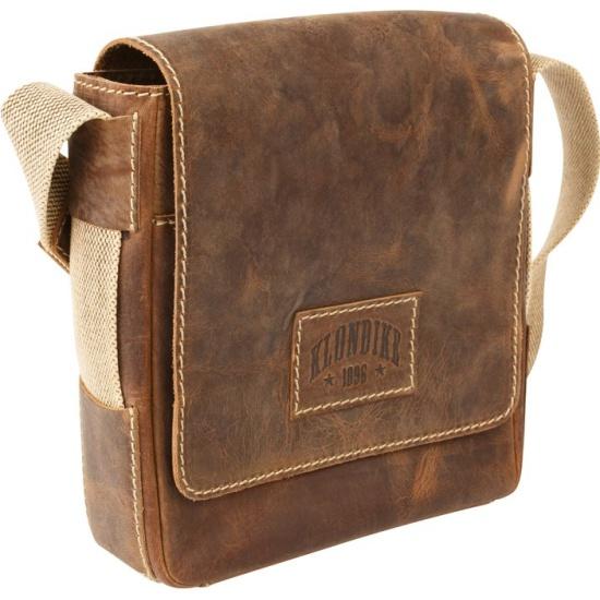 153dded8c272 Мужская сумка через плечо KLONDIKE Native KD1127-03, коричневый Изображение  2 - купить в